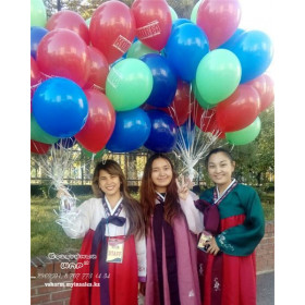 Тираж 500 шт - Воздушные шары с логотипом, печать на шарах Атырау