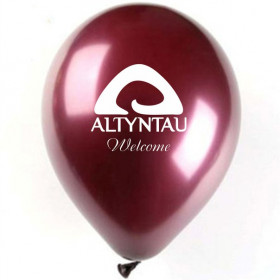 Тираж 100 шт - Печать на шарах: нанесение логотипа на воздушные шары Атырау