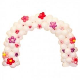 Арка из шаров (Белая с цветочками)