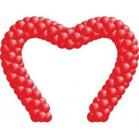 Арка в форме сердца из шаров