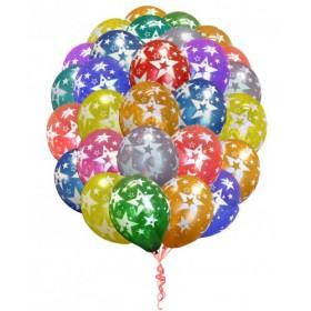 Букет из 50 шаров - звезды