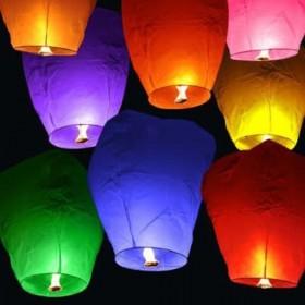 Небесные фонарики 15 шт