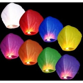 Небесные фонарики 30 шт