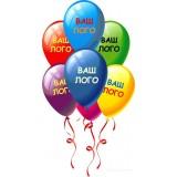 Печать на воздушных шарах логотипов в Алматы - нанесение логотипа на шары и брендирование