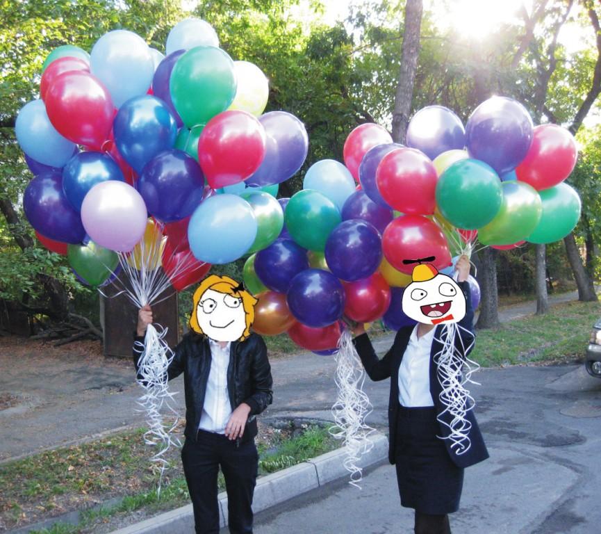 Воздушные шары с гелием Алматы. Гелевые шарики Алматы